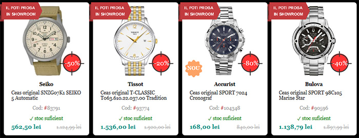 Ceasuri Black Friday 2015 WatchShop