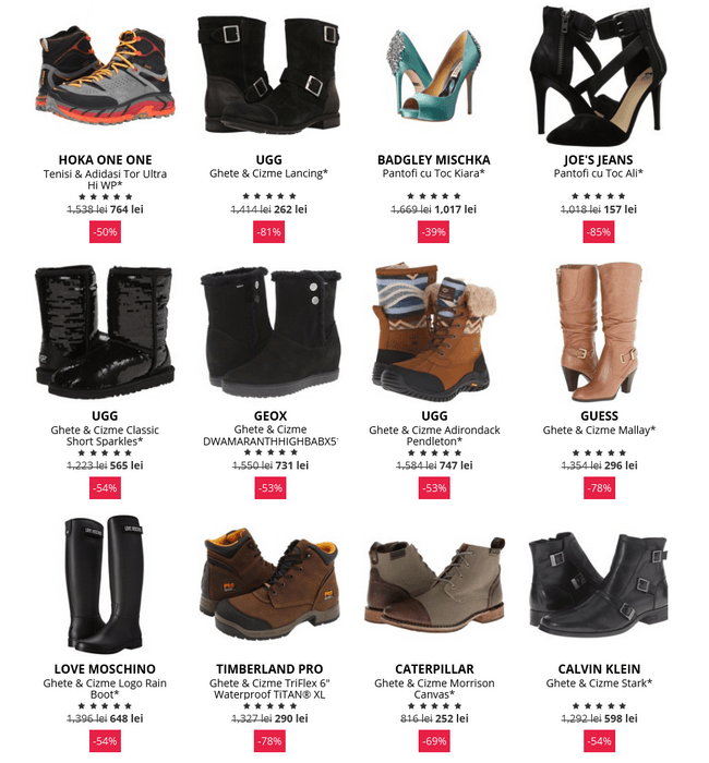 boutique-mall incaltaminte black friday 2015