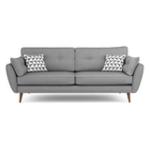 Canapea fixa tapitata cu stofa Volex Grey
