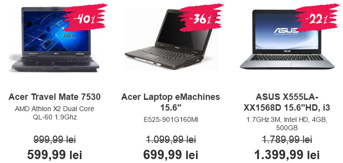 Laptopuri Black Friday 2015 ClickShop