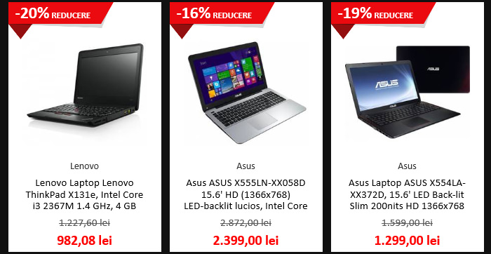 Laptopuri Black Friday 2015 Dwyn