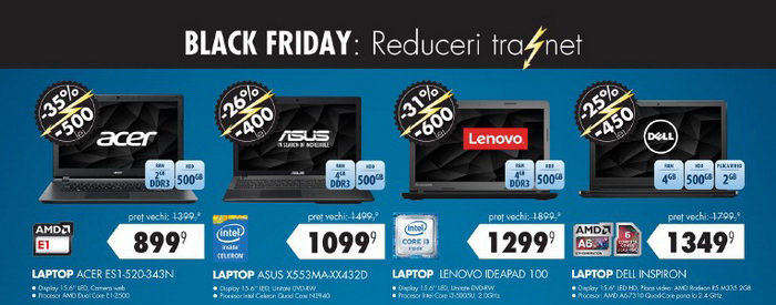 Laptopuri Black Friday 2015 Flanco