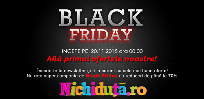 Nichiduta Black Friday Newsletter