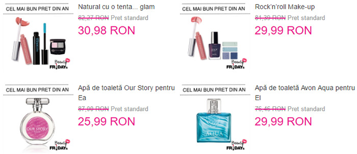 Oferte Beauty Fridays 2016 Avon