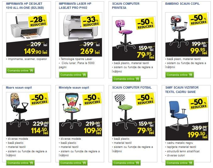 Oferte imprimante scaune birou Metro Black Friday 2015