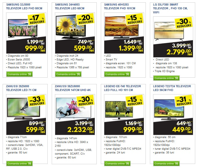 Oferte televizoare Metro Black Friday 2015