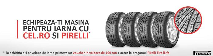 Promotie anvelope Pirelli la Cel.ro