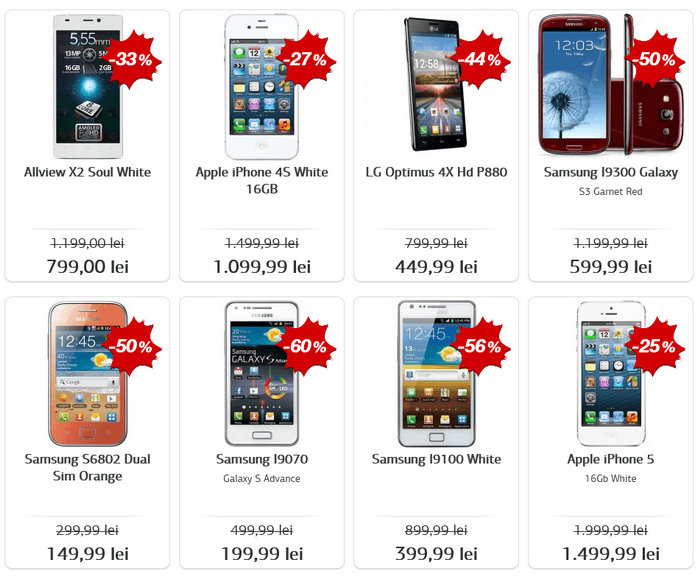 telefoane black friday 2015 la germanos
