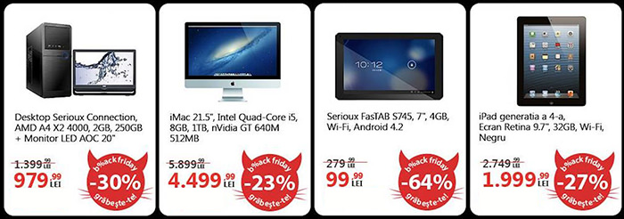 Oferte Black Friday 2013 la eMAG