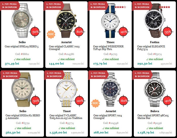 Reduceri Black Friday 2015 la Watchshop
