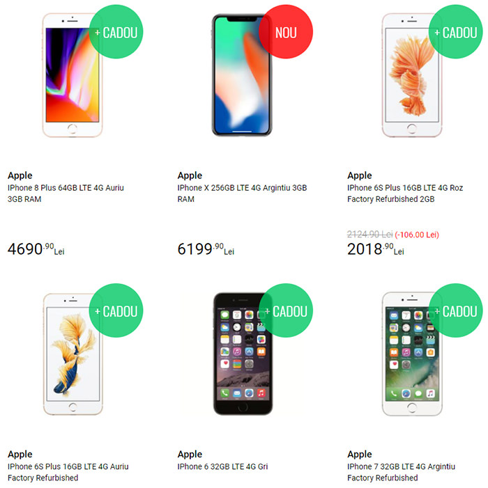 Oferte iPhone QuickMobile