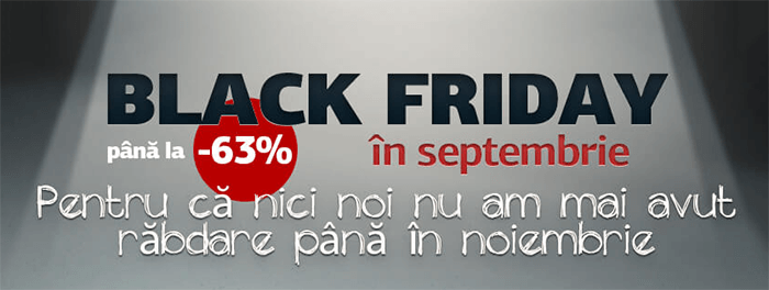Black Friday 2018 in septembrie la Germanos