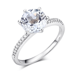 Inel logodna Borealy aur alb 14K si diamante naturale