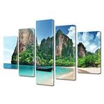 Set tablouri multicanvas 5 piese cu peisaje la mare
