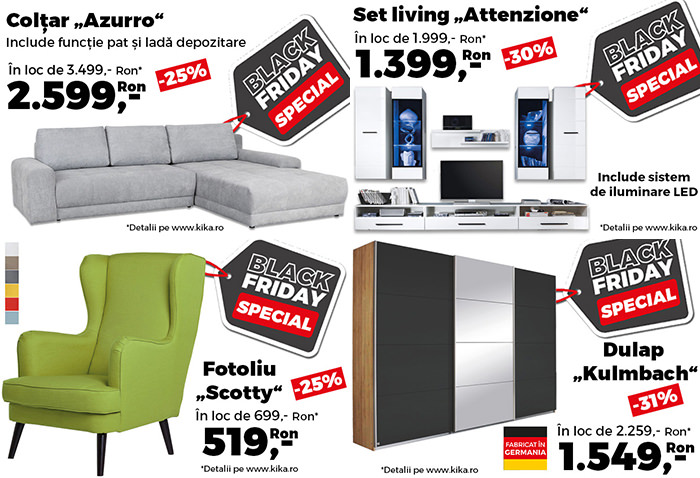 Oferte Black Friday la kika
