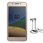 Motorola Moto G5 Dual-Sim Gold cu casti