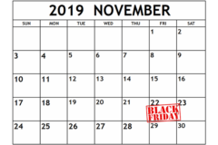 Data Black Friday 2019 calendar