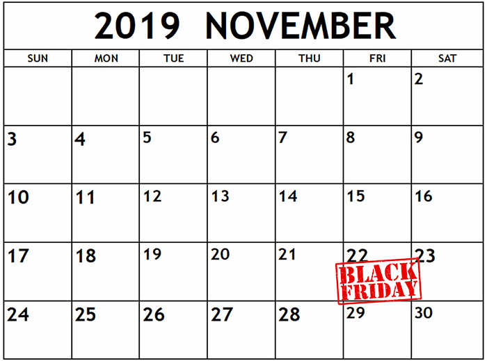 Data Black Friday 2019