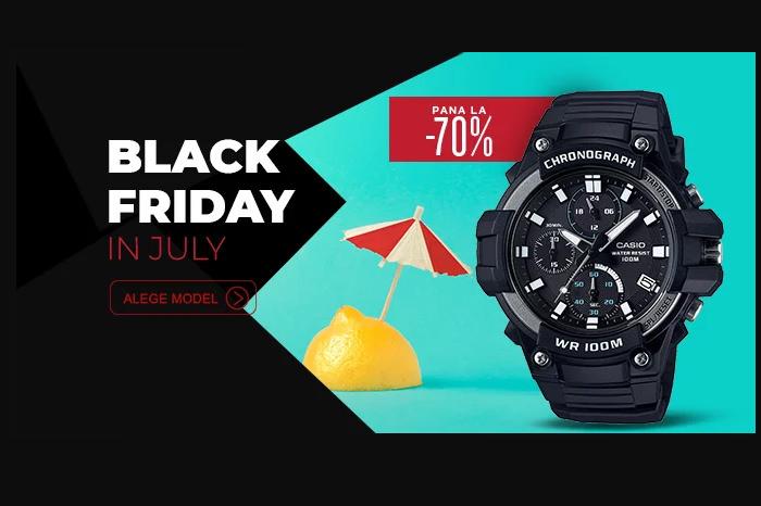 Black Friday in July la WatchShop