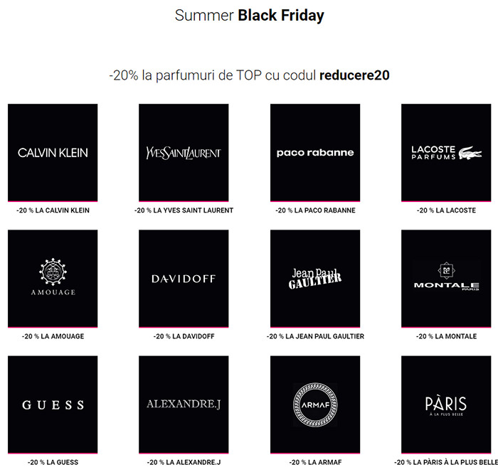 Parfumuri Summer Black Friday 2019 la Notino