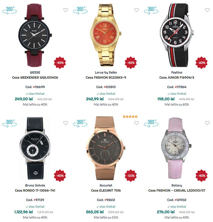Oferte Black Friday in July la WatchShop