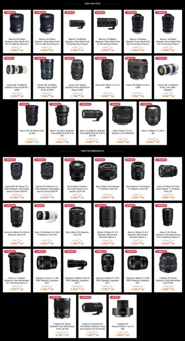 obiective DSLR mirrorless F64 Black Friday PRO octombrie 2019