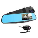 Camera video auto TechStar tip oglinda cu 2 camere, Full HD