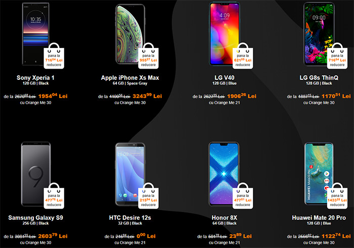 Telefoane Black Friday 2019 Orange