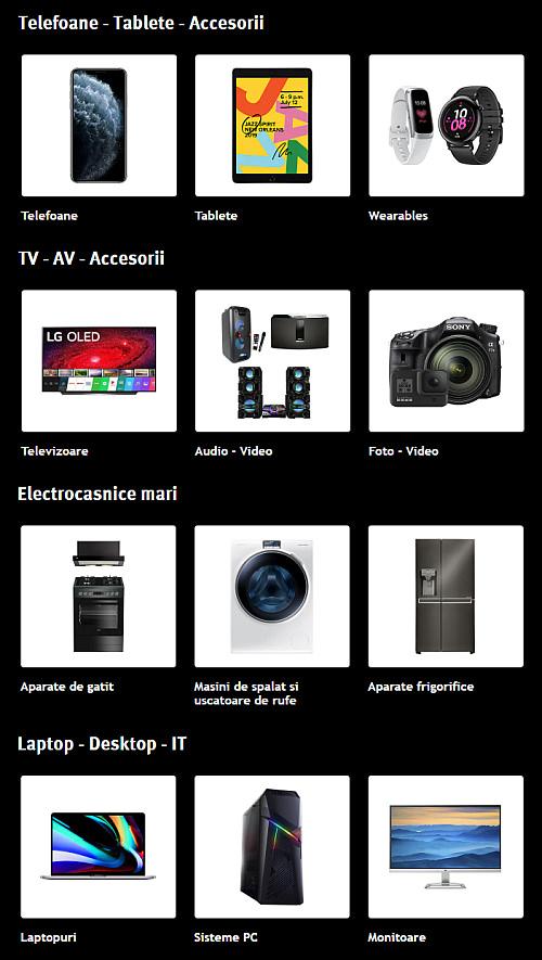 Altex Black Friday categorii produse