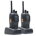Stație radio UHF portabila PNI PMR R20 2 buc cu căști