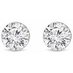 Cercei Diamond Style culoare argintie