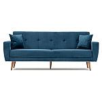 Canapea extensibilă trei locuri Vivalde albastru aprins