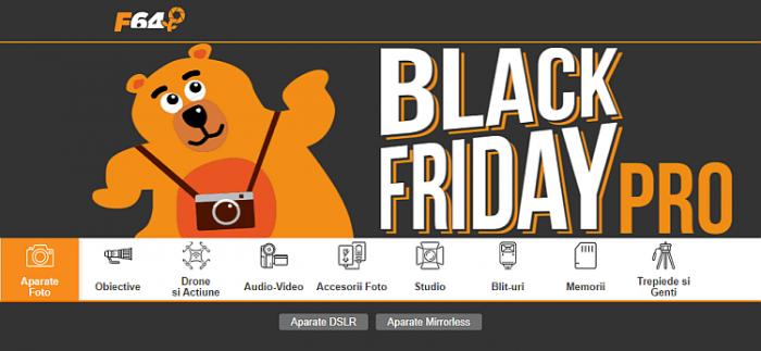 categorii echipamente Black Friday PRO F64